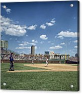 Baseball At Wrigley Field In The 1990s Acrylic Print