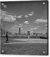 Baseball At Wrigley In The 1990s Acrylic Print