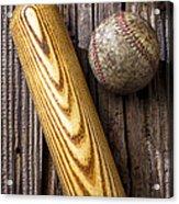 Baseball Bat And Ball Acrylic Print
