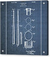 Baseball Bat By Lloyd Middlekauff - Vintage Patent Blueprint Acrylic Print