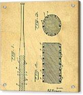 Baseball Bat Patent Acrylic Print