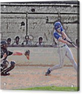 Baseball Batter Contact Digital Art Acrylic Print