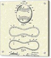 Baseball By Maynard 1928 Patent Art Acrylic Print by Prior Art Design