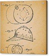 Baseball Cap Patent 1955 Acrylic Print