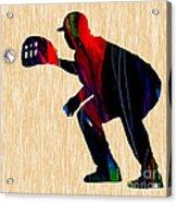 Baseball Catcher Acrylic Print