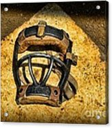 Baseball Catchers Mask Vintage  Acrylic Print by Paul Ward