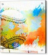 Baseball- Colors- Isolated Acrylic Print