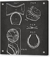 Baseball Construction Patent 2 - Gray Acrylic Print