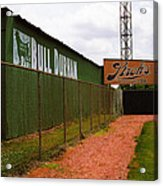 Baseball Field Bull Durham Sign Acrylic Print