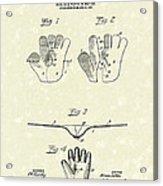 Baseball Glove 1907 Patent Art Acrylic Print by Prior Art Design