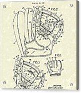 Baseball Glove 1953 Patent Art Acrylic Print by Prior Art Design