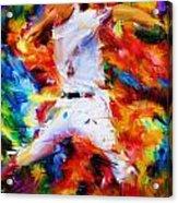 Baseball  I Acrylic Print by Lourry Legarde