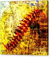 Baseball Impression Acrylic Print