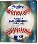 Baseball Iv Acrylic Print by Lourry Legarde