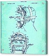 Baseball Mask Patent Blue Us2627602 A Acrylic Print