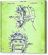 Baseball Mask Patent Green Us2627602 A Acrylic Print