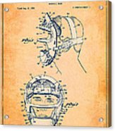 Baseball Mask Patent Orange Us2627602 A Acrylic Print
