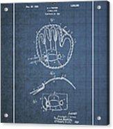 Baseball Mitt By Archibald J. Turner - Vintage Patent Blueprint Acrylic Print