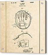 Baseball Mitt By Archibald J. Turner - Vintage Patent Document Acrylic Print