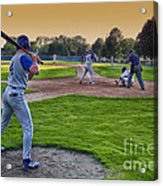 Baseball On Deck Circle Acrylic Print