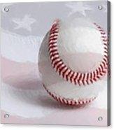 Baseball - Painterly Acrylic Print by Heidi Smith