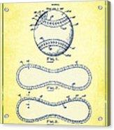 Baseball Patent Yellow Us1668969 Acrylic Print