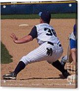 Baseball Pick Off Attempt Acrylic Print