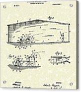 Baseball Pitcher 1902 Patent Art Acrylic Print