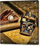 Baseball Play Ball Acrylic Print by Paul Ward