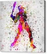Baseball Player - Holding Baseball Bat Acrylic Print