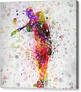 Baseball Player - Taking A Swing Acrylic Print
