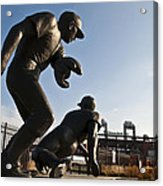 Baseball Statue At Citizens Bank Park Acrylic Print