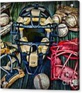 Baseball Vintage Gear Acrylic Print
