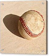 Baseball With Shadow Acrylic Print