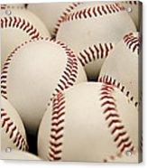 Baseballs II Acrylic Print by Ricky Barnard