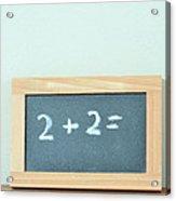 Basic Math Acrylic Print