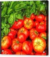 Basil Tomato Acrylic Print