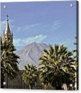 Basilica Cathedral In Arequipa Peru Acrylic Print