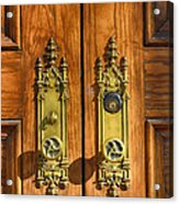 Basilica Door Knobs Acrylic Print