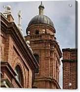 Basilica Of Saint Lawrence Steeple Acrylic Print