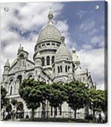 Basilica Of The Sacred Heart Paris France Acrylic Print
