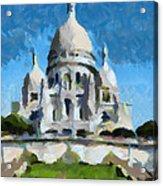 Basilica Sacred Heart- Paris Acrylic Print