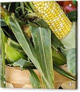 Basket Farmers Market Corn Acrylic Print