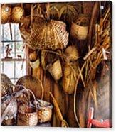 Basket Maker - I Like Weaving Acrylic Print by Mike Savad