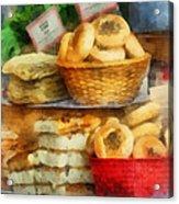 Basket Of Bialys Acrylic Print