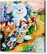 Basket Of Bunnies Acrylic Print