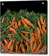 Basket Of Carrots Acrylic Print