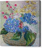 Basket Of Flowers Acrylic Print by Terri Maddin-Miller