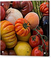 Basket Of Fruits And Vegetables Acrylic Print