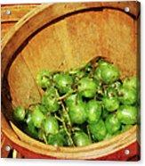 Basket Of Green Grapes Acrylic Print by Susan Savad
